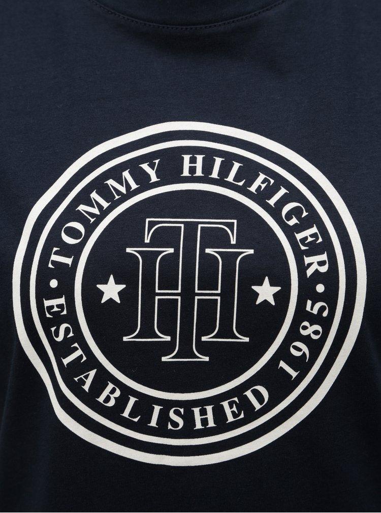 Tmavě modré tričko s potiskem Tommy Hilfiger Viola