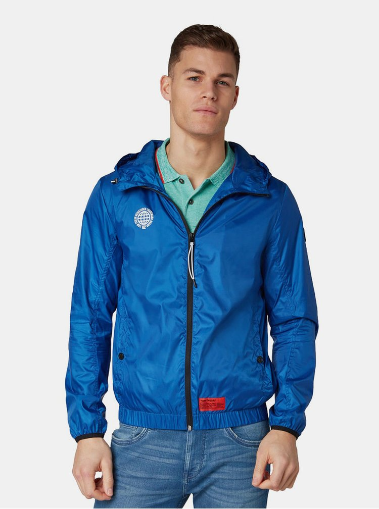 Jacheta barbateasca albastra impermeabila Tom Tailor