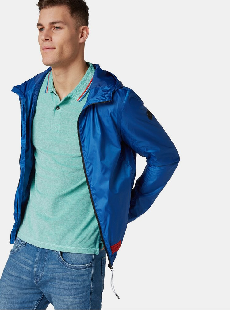 Modrá pánska nepremokavá bunda Tom Tailor