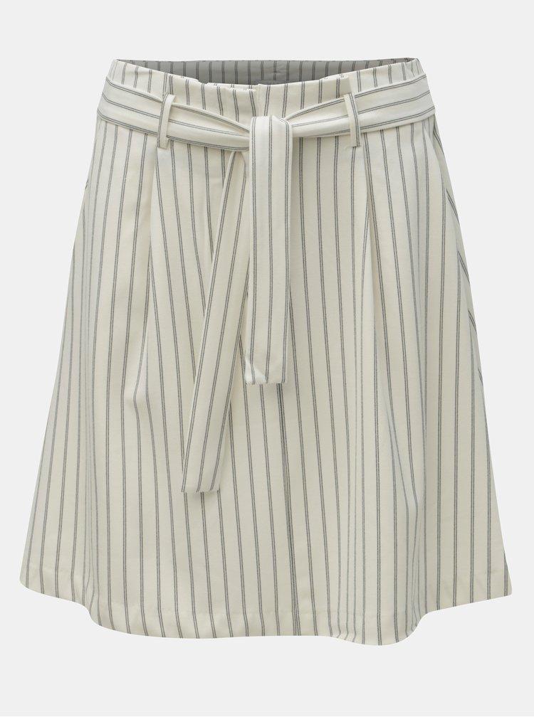 Krémová pruhovaná sukně s kapsami VILA Pintri