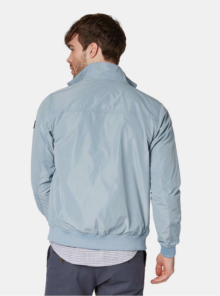 Světle modrá pánská voděodpudivá bunda Tom Tailor