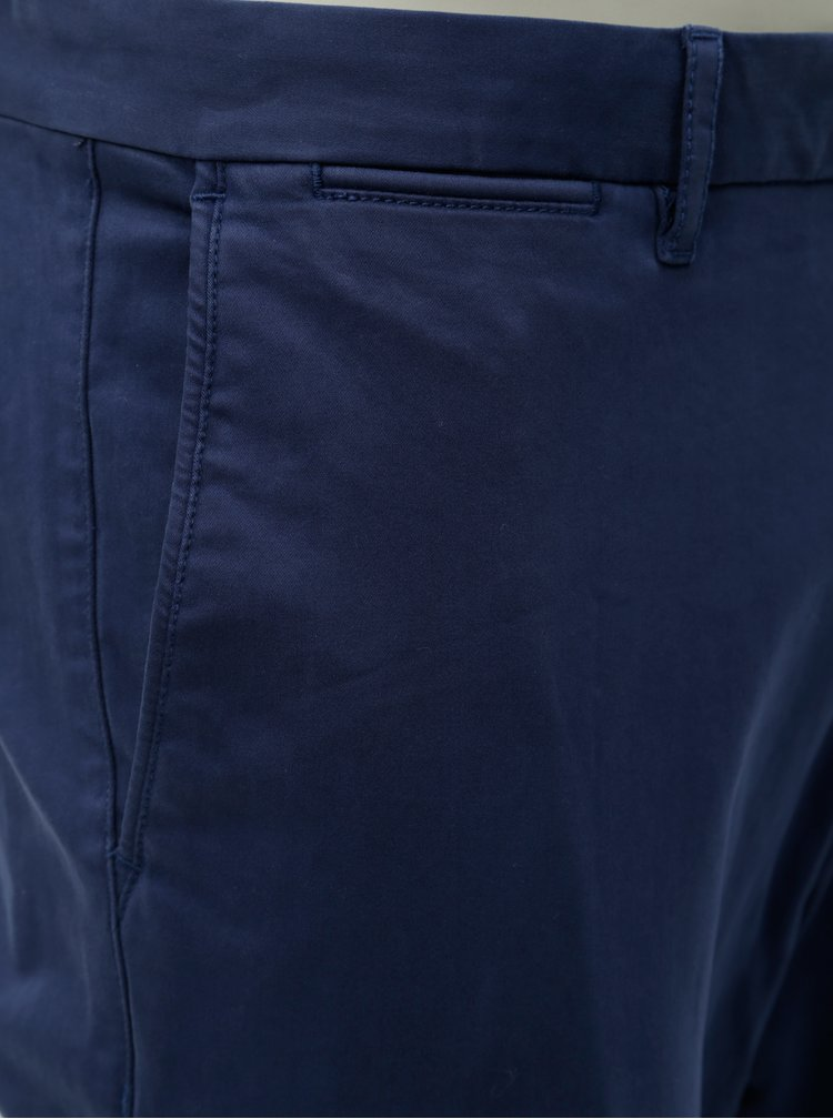 Tmvomodré pánske straight fit chino nohavice Tommy Hilfiger