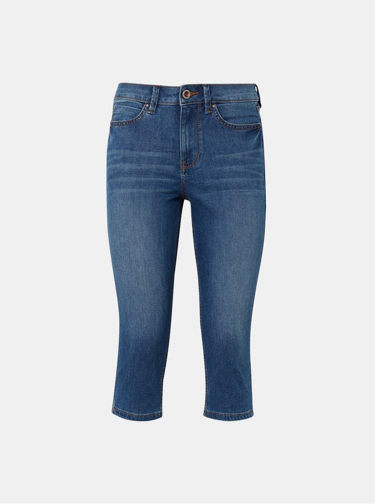 Modré dámské 3/4 skinny džíny Tom Tailor Denim