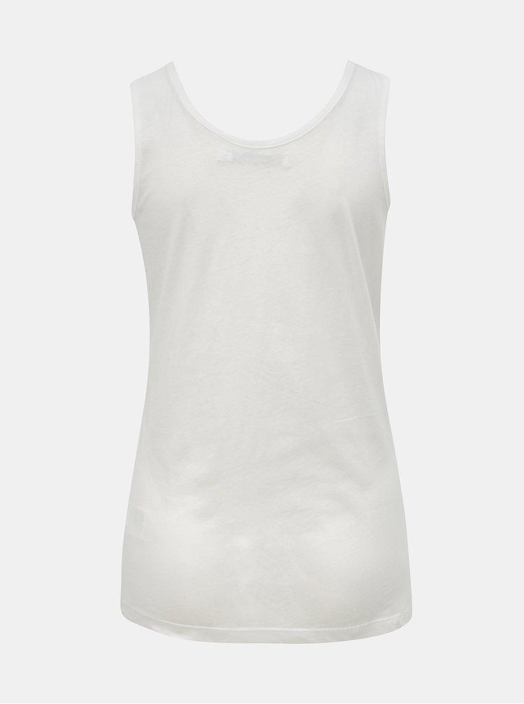 Bílé dámské tílko s nápisem Calvin Klein Jeans