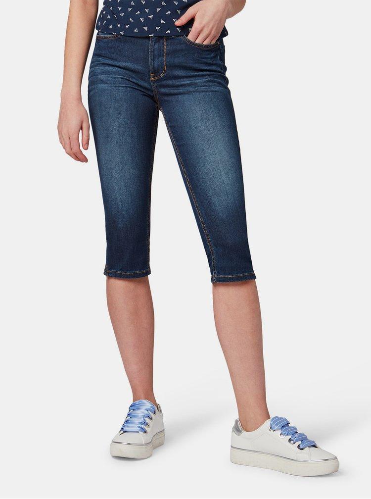 Tmavě modré dámské 3/4 skinny džíny Tom Tailor Denim