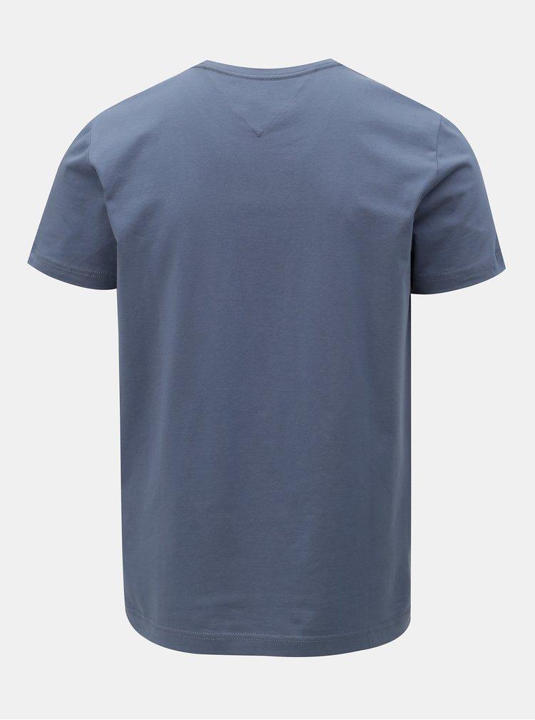 Tmavě modré pánské slim fit basic tričko Tommy Hilfiger