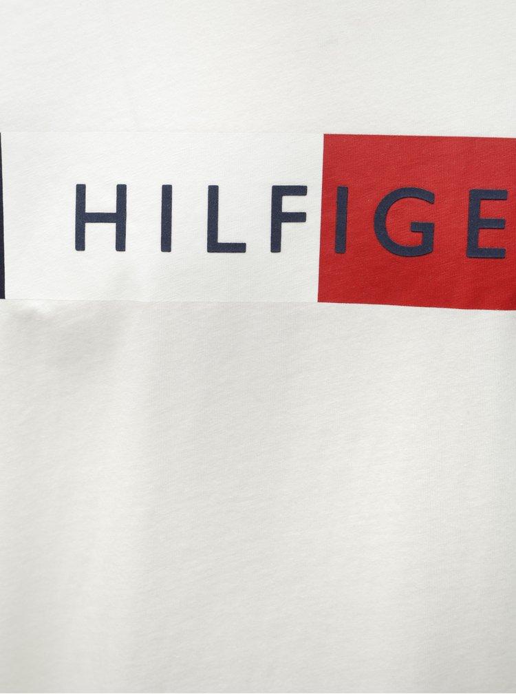 Biele pánske tričko s potlačou Tommy Hilfiger