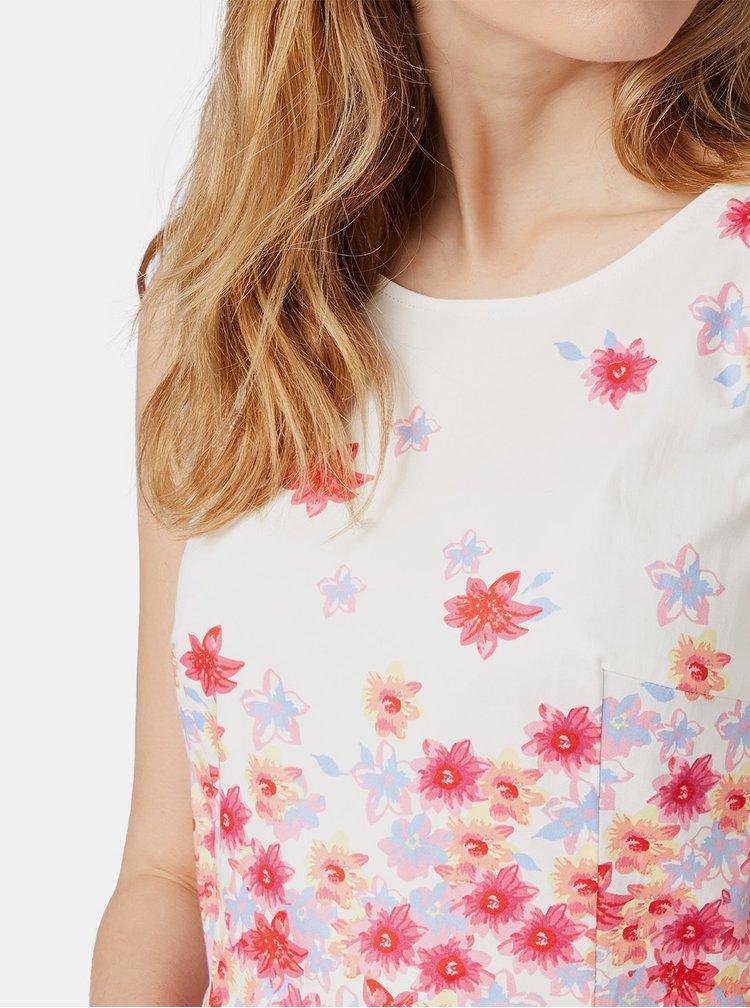 Rochie alba florala Tom Tailor