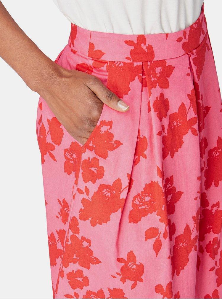 Fusta roz florala Tom Tailor