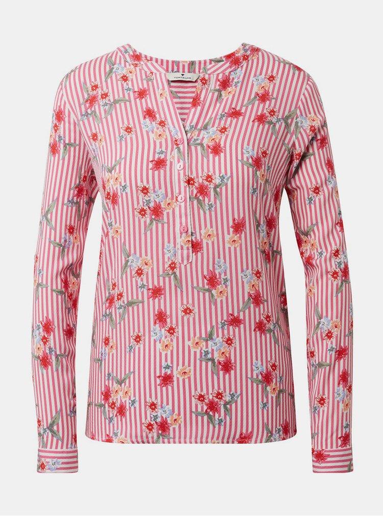 Ružová dámska kvetovaná blúzka Tom Tailor