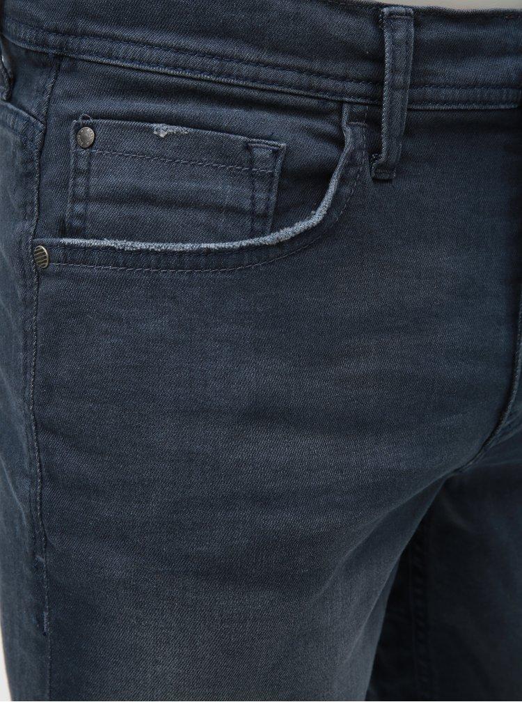 Pantaloni scurti albastru inchis slim fit din denim Blend