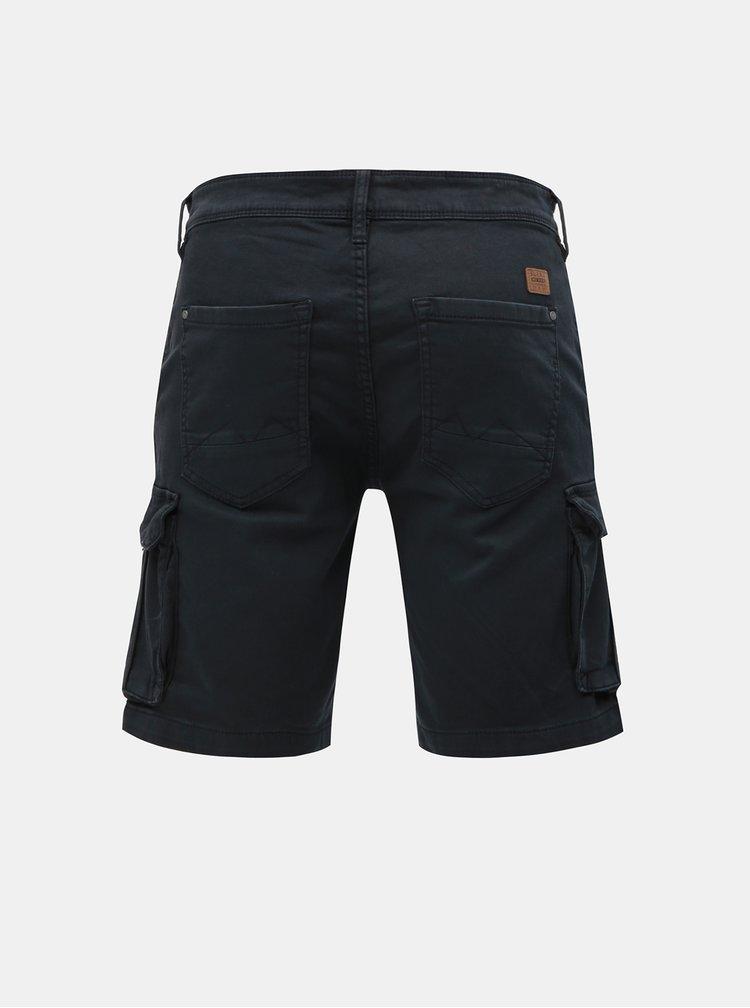 Pantaloni scurti negri slim fit cu buzunare Blend