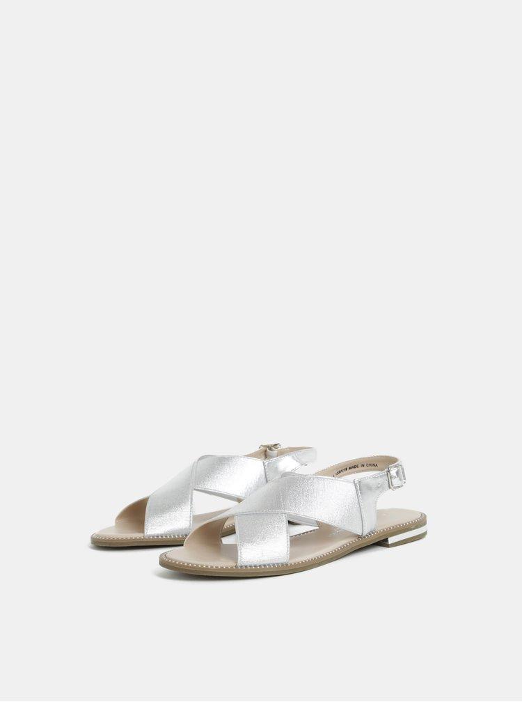 Sandály ve stříbrné barvě Dorothy Perkins