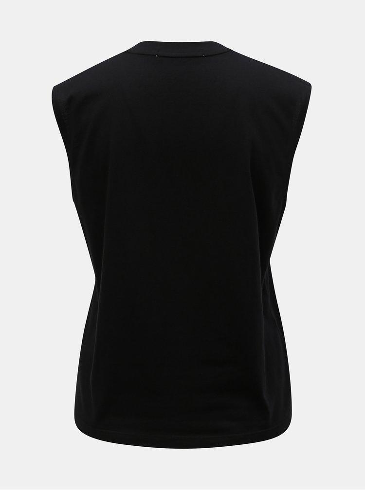 Čierne tričko s potlačou Calvin Klein Jeans