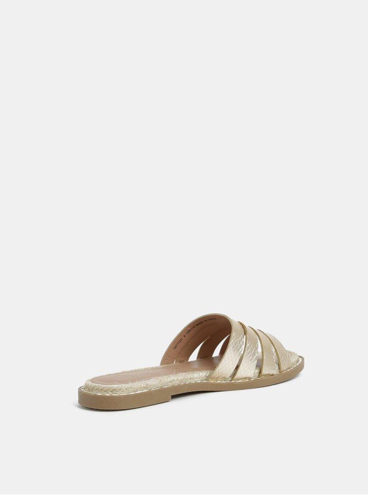 Pantofle ve zlaté barvě Dorothy Perkins