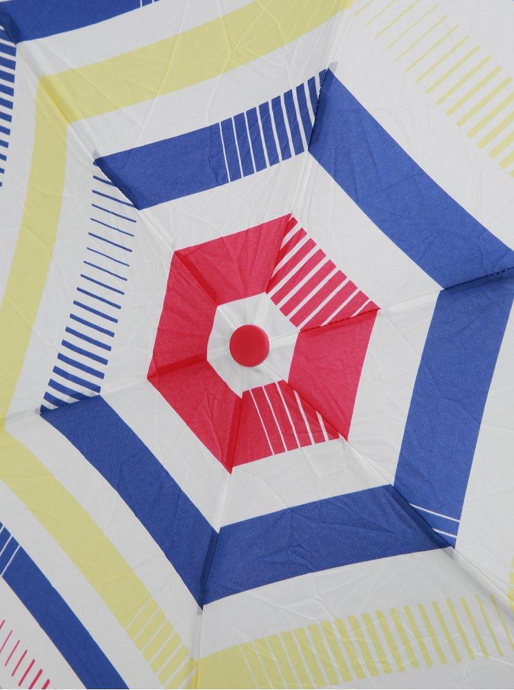Umbrela telescopica alba in dungi Esprit