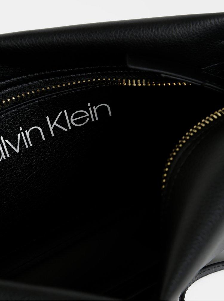 Čierna crossbody kabelka Calvin Klein Jeans