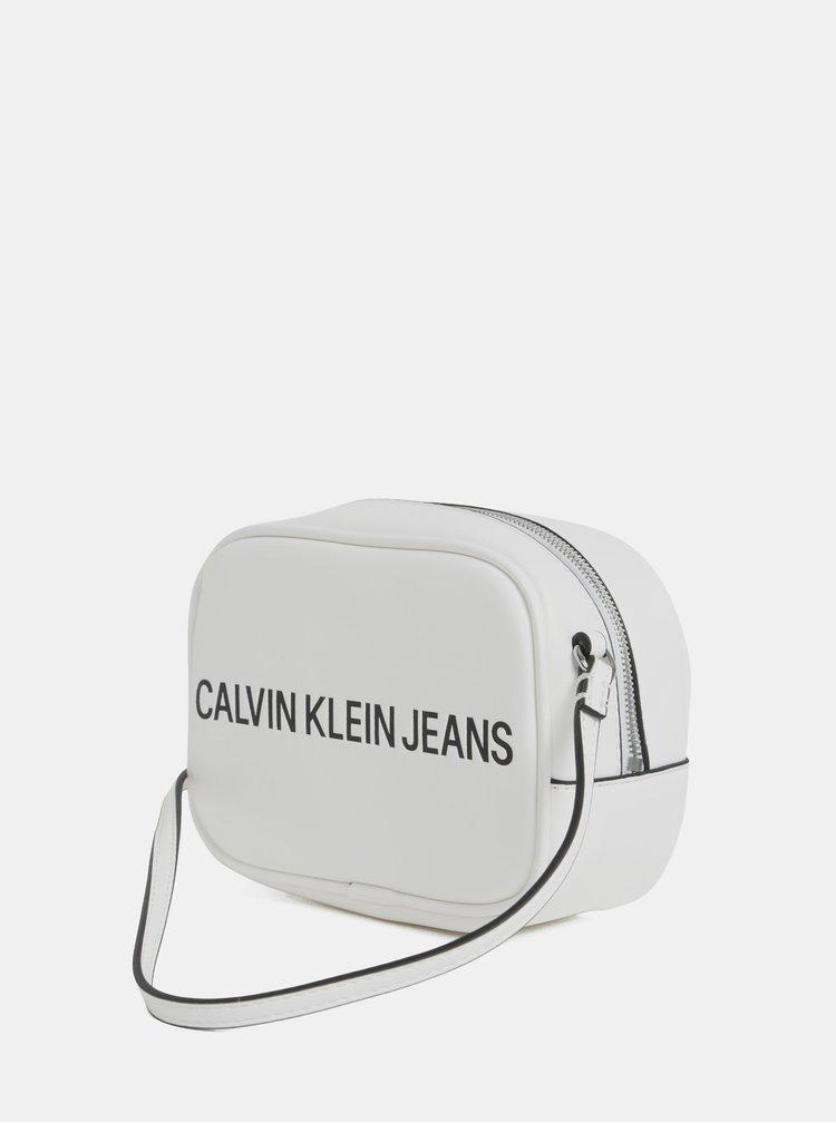 Bílá crossbody kabelka Calvin Klein Jeans