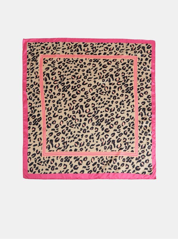 Béžový šátek s leopardím vzorem Dorothy Perkins