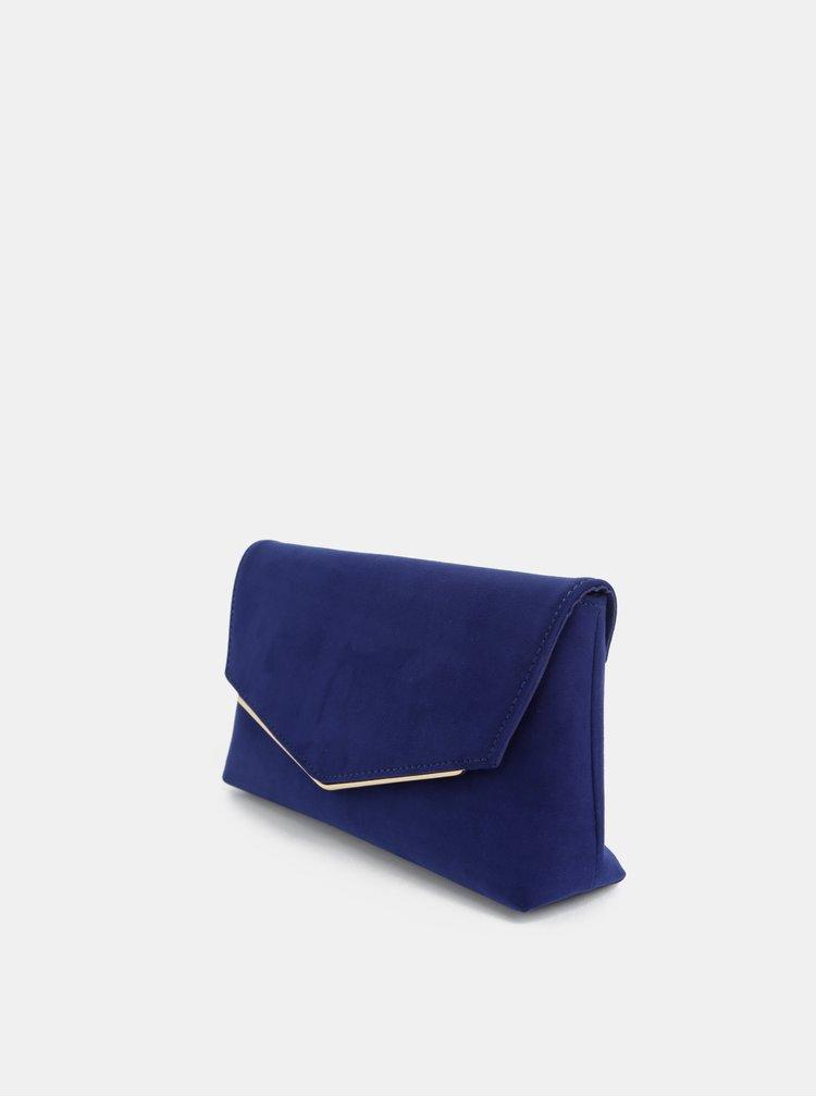 Tmavomodrá listová kabelka v semišovej úprave Dorothy Perkins