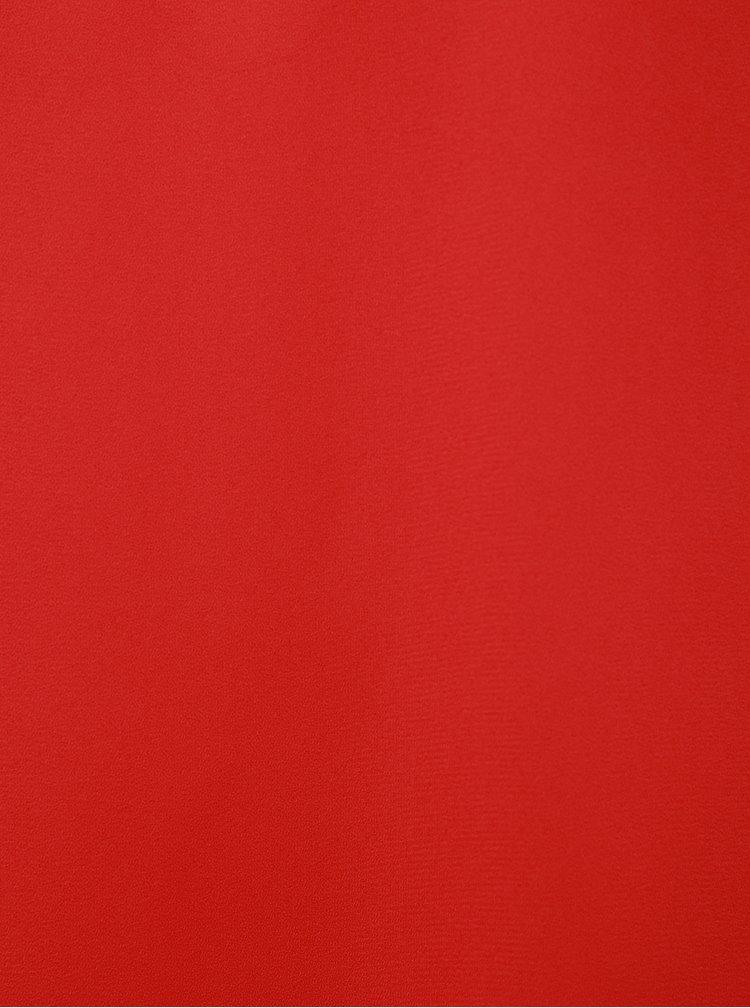 Tmavoružová voľná blúzka s prestrihom Dorothy Perkins Petite
