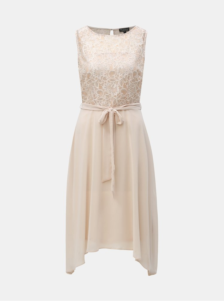 Krémové šaty s krajkou Billie & Blossom