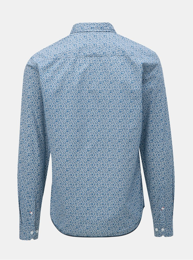 Camasa albastru deschis cu model si buzunar Blend
