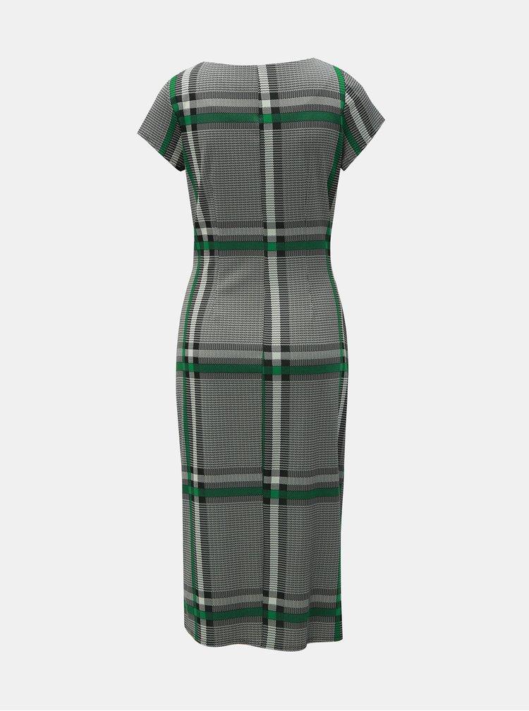 Sivé kockované šaty Lily & Franc by Dorothy Perkins