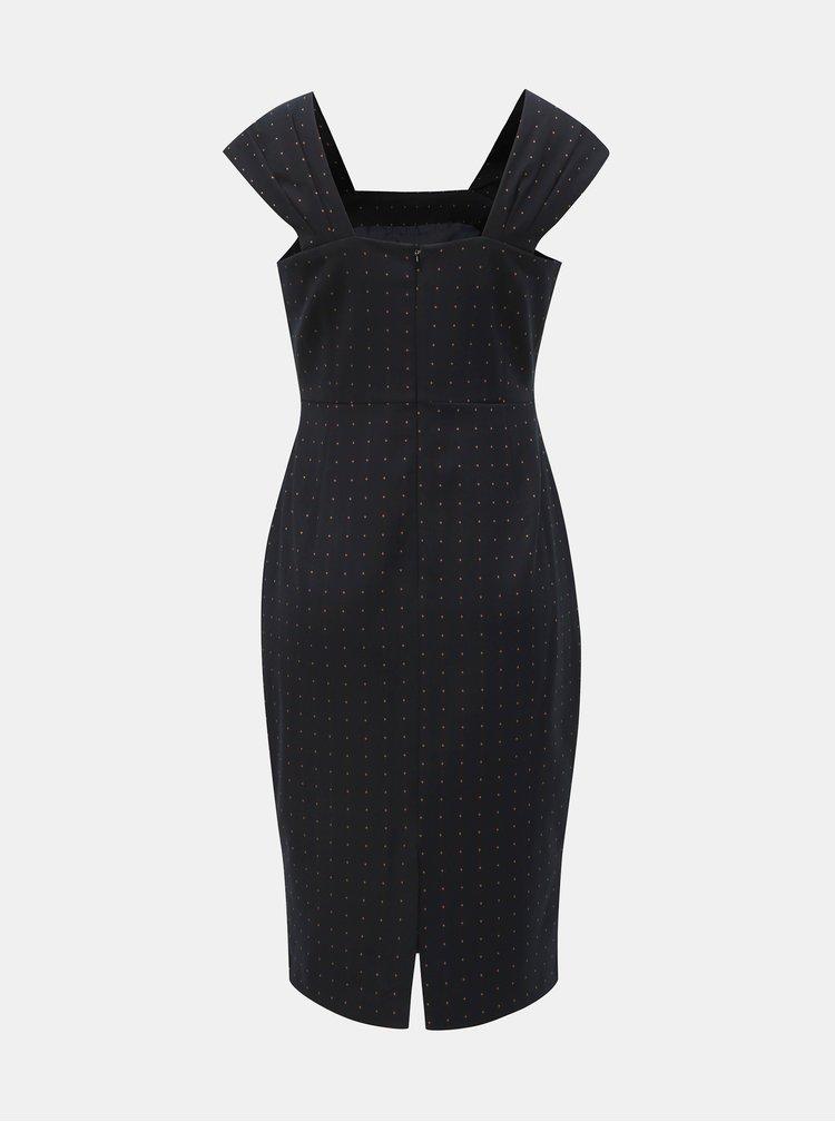 Černé pouzdrové vzorované šaty Dorothy Perkins