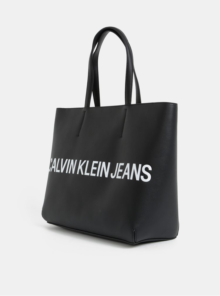 Černý shopper Calvin Klein Jeans