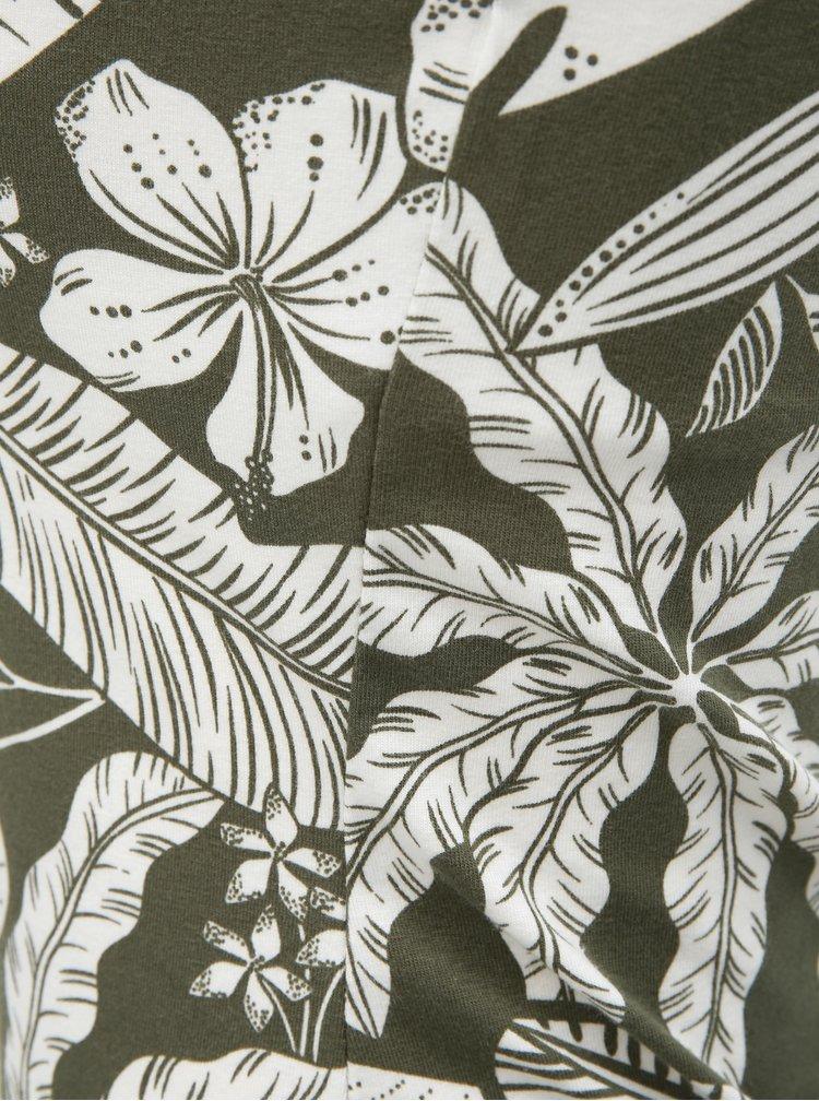 Khaki květované tílko Dorothy Perkins
