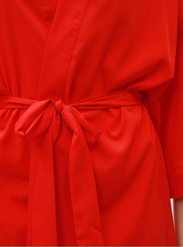 Červený kaftan s výšivkou Pieces Bilama