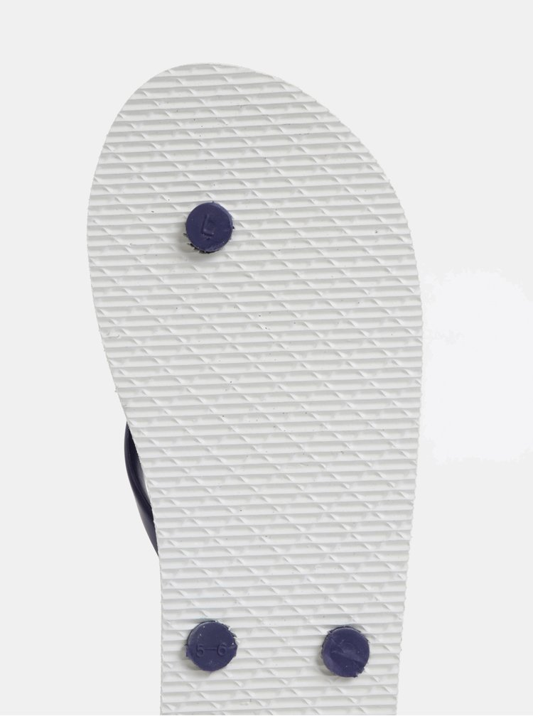 Bielo–modré pruhované žabky Pieces Blair