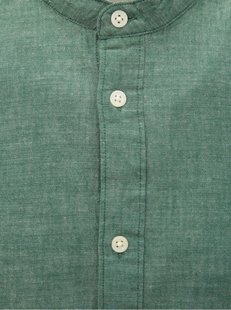 Zelená žíhaná slim fit košile Selected Homme Nolan