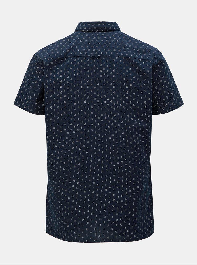 Tmavě modrá vzorovaná slim fit košile Selected Homme Matthew