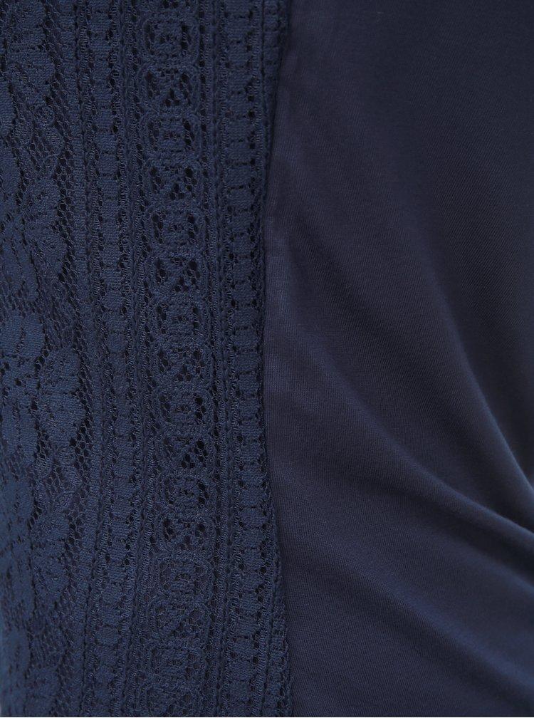 Tmavě modrý top s krajkou Dorothy Perkins