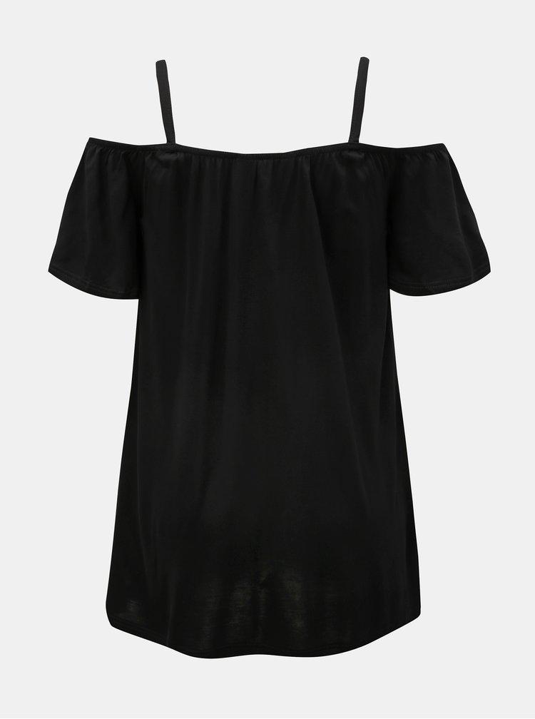 Černý top s odhalenými rameny Dorothy Perkins Tall