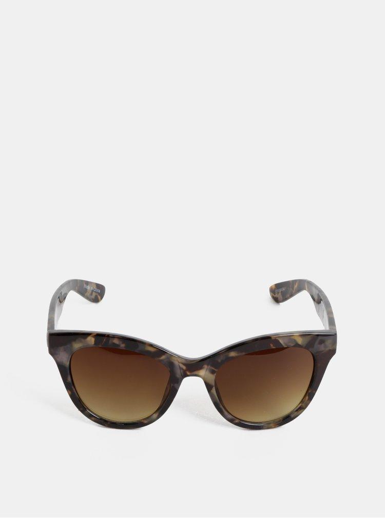 Ochelari de soare gri cu model Pieces Sonja