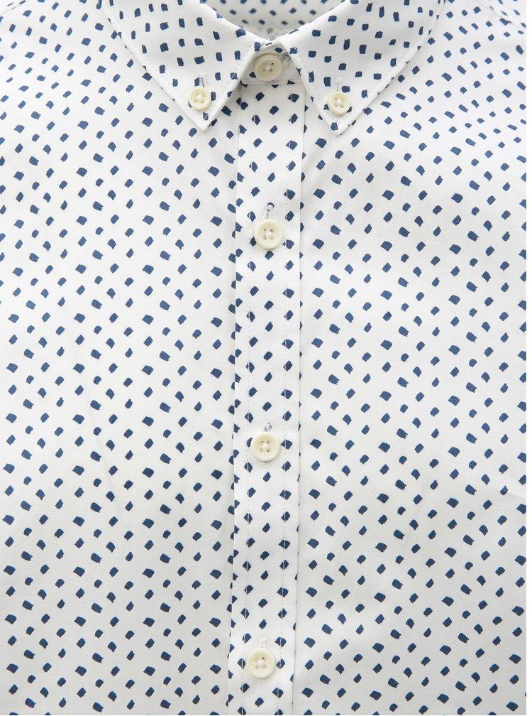 Biela vzorovaná košeľa Lindbergh