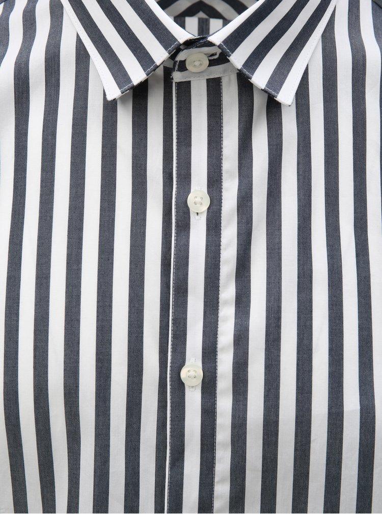 Biela–modrá pruhovaná košeľa Lindbergh