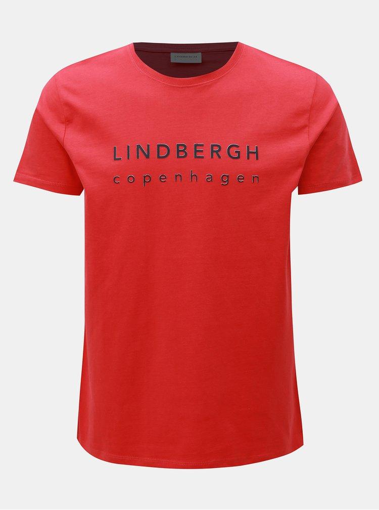 Tricou rosu cu imprimeu Lindbergh
