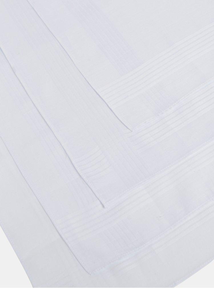 Set de 4 batiste albe Burton Menswear London