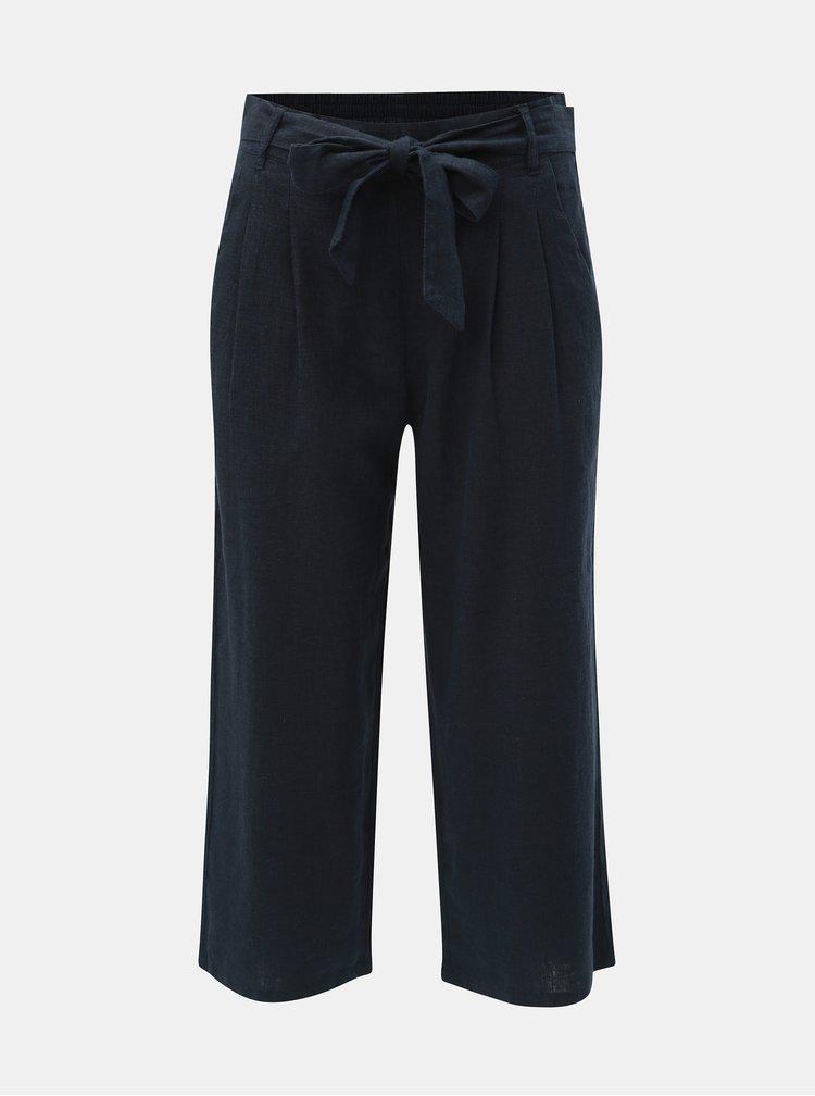 Tmavě modré lněné culottes Jacqueline de Yong Jake