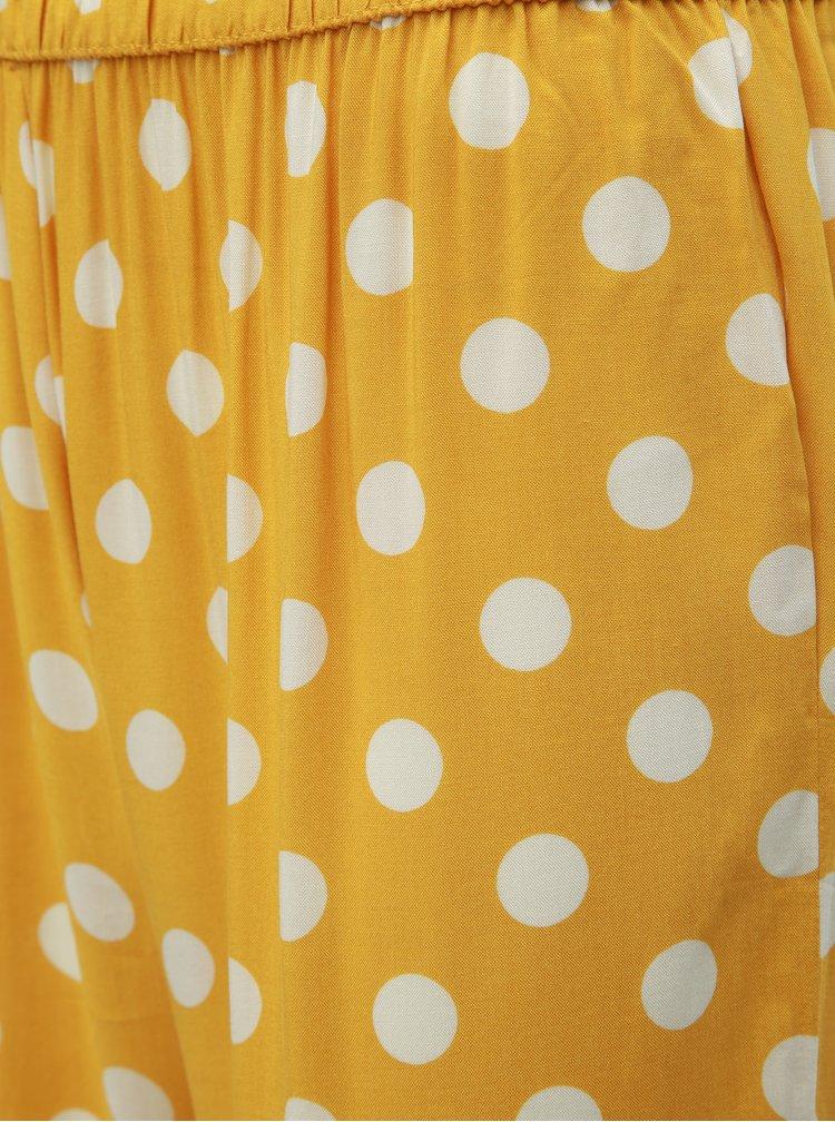 Pantaloni galbeni cu buline Jacqueline de Yong Star