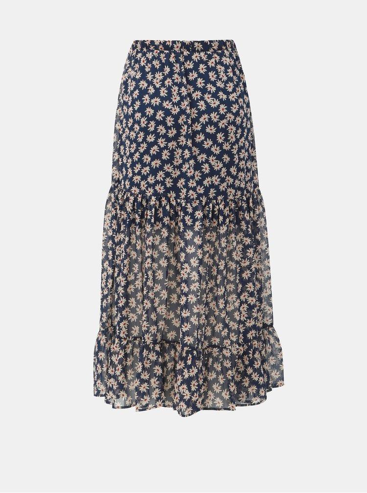 Fusta maxi albastru inchis florala Jacqueline de Yong Gismo