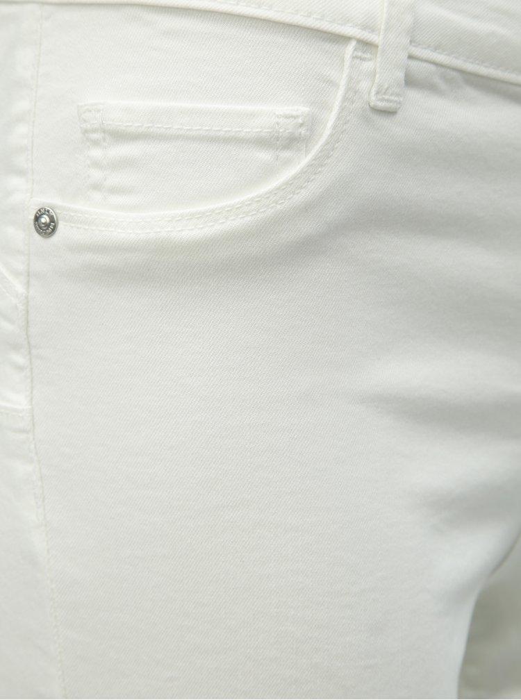 Bílé džínové kraťasy ONLY Rain