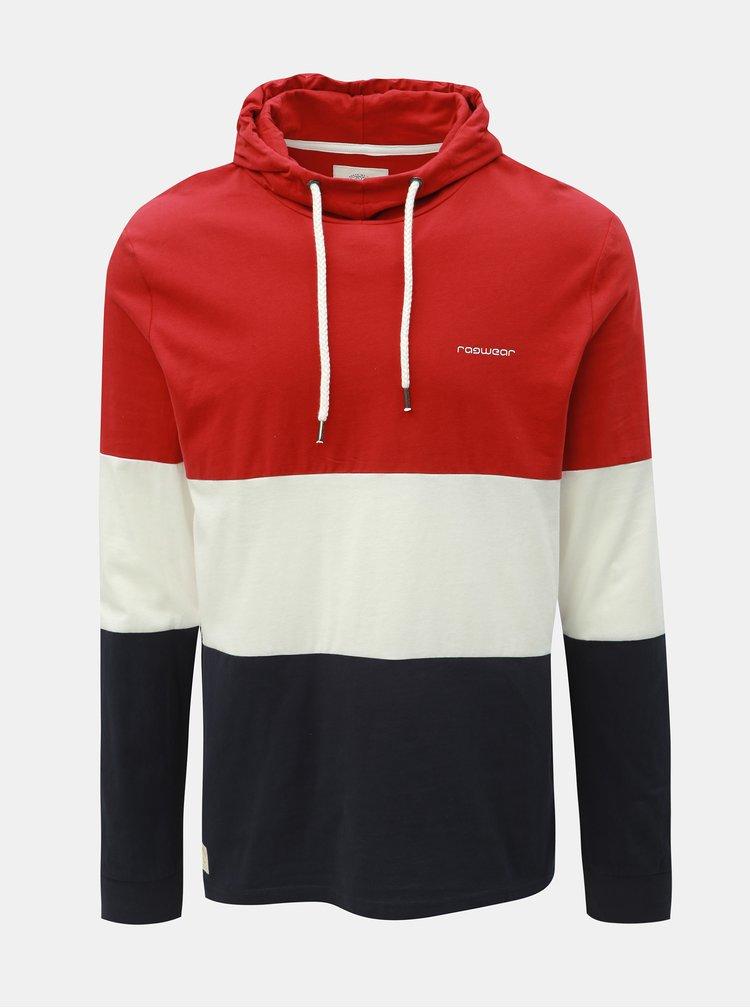 Modro-červené pánské tričko s kapucí Ragwear Folmer Organic
