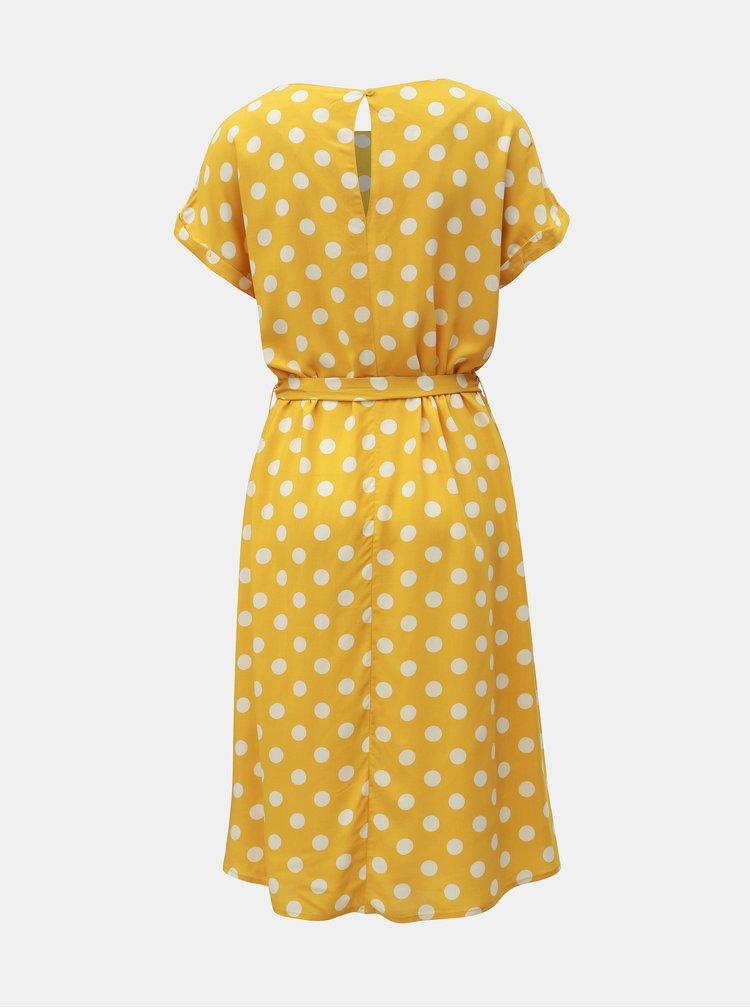 Žluté puntíkované šaty Jacqueline de Yong Star