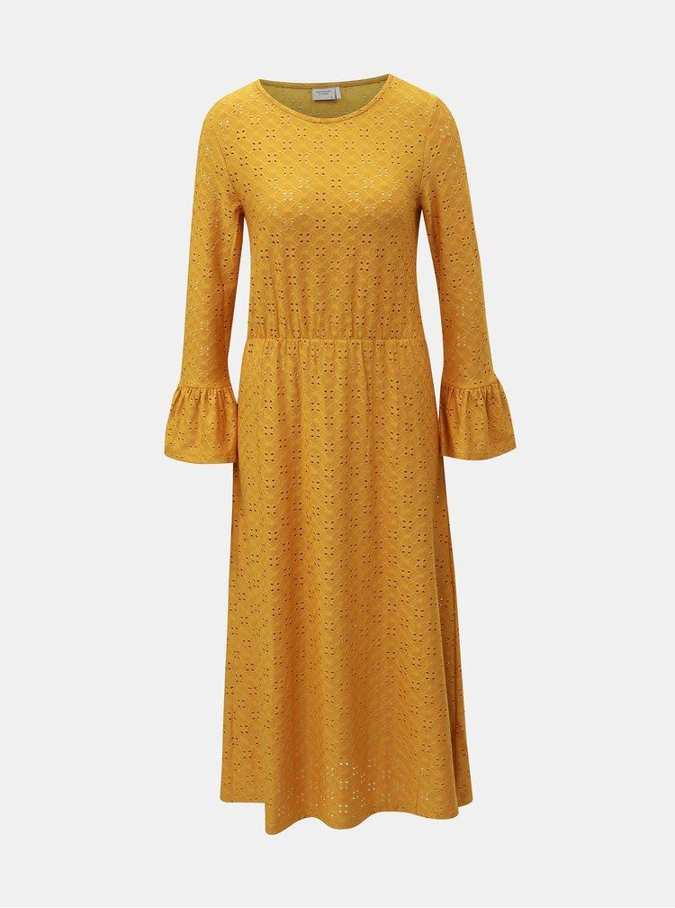 Hořčicové šaty Jacqueline de Yong Cathinka