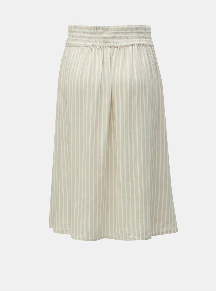 Béžová pruhovaná sukně ONLY Manhattan